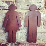 Rusty Metal Toilet Signs Bathroom Sign Ladies And Gentlemen Toilet Door Plaques Wall Decor Home Sign Shop Sign Shop Signage