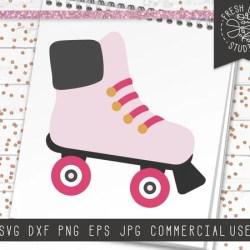 Roller Skate Svg Rollerskate Svg Cut File For Cricut Etsy