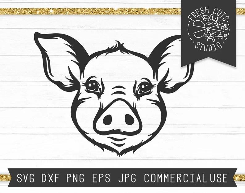 Download Pig Face SVG Hog Svg Pig Svg Pig Cut File Piglet Face Svg ...