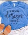 Blue Tshirt Mockup Heather Colum Blue Mockup Flat Lay Tshirt Etsy