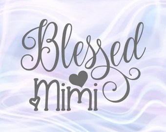 Download Blessed mimi svg   Etsy