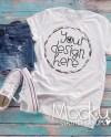 T Shirt Mockup Bella Canvas White T Shirt Mock Up Ladies Etsy