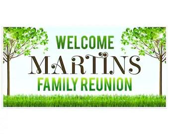 Family Reunion Banner Etsy