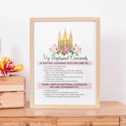 Lds My Baptismal Covenants Lds Girls Baptism Print Lds Etsy