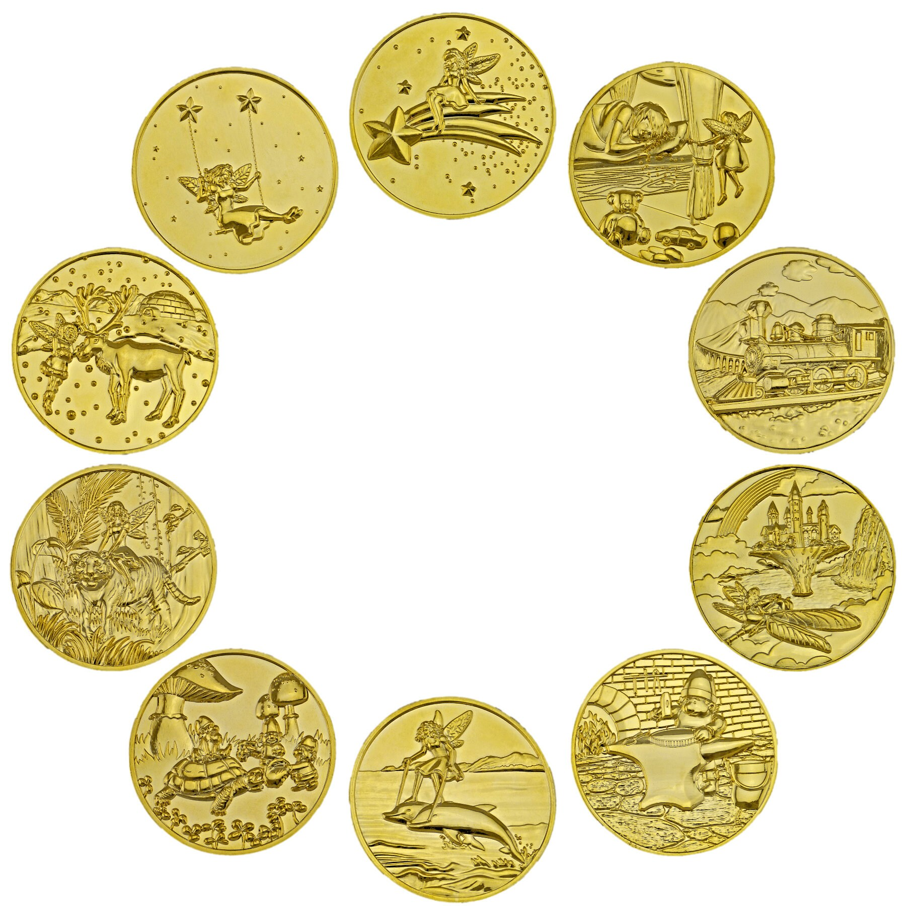 Tooth Fairy Coins Designer Set 1 goldplated image 1