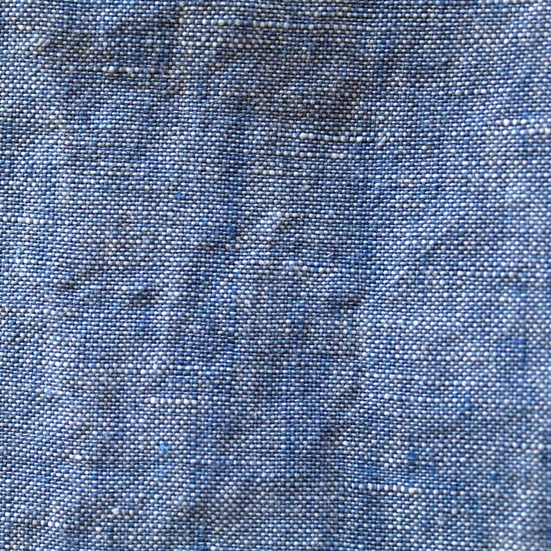 Leinen weich blau 160 g/m2  Leinenstoff blau jeanSblau image 0