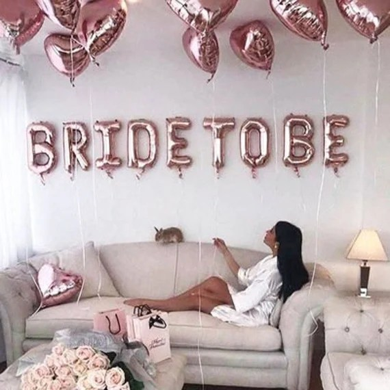 Rose Gold Bride To Be Balloon Kit For Bridal Shower Etsy