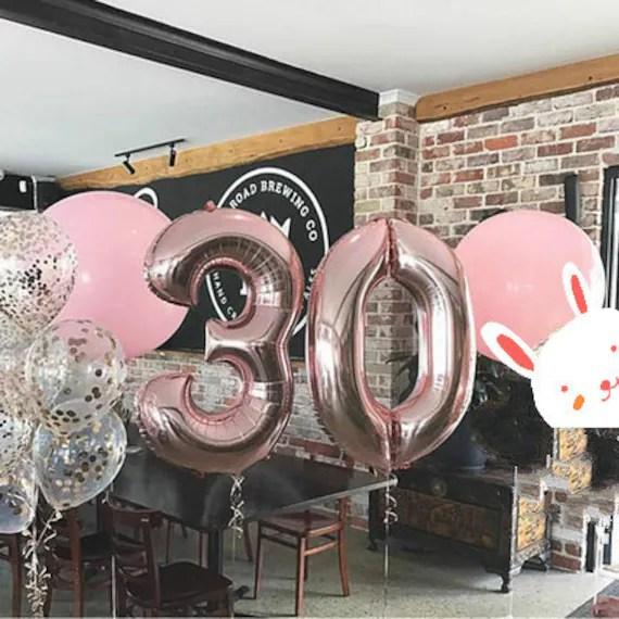 30th Birthday Balloon Decoration Set Dirty 30 Birthday Ideas Etsy