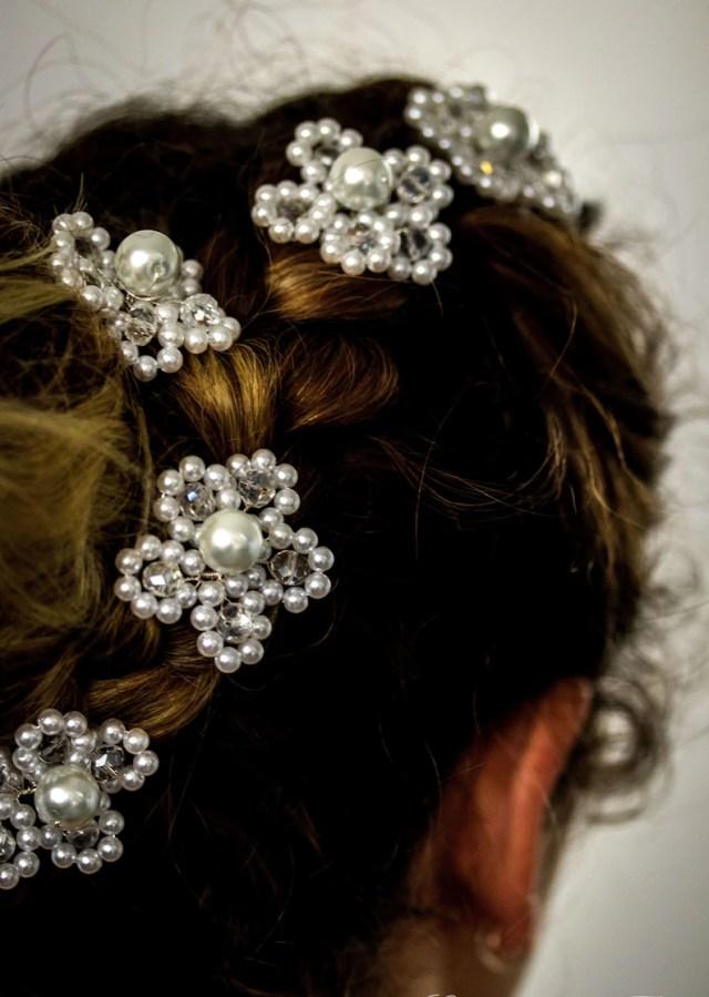 hair pins, headdress, bridal hair jewelry, hair jewelry, wedding, communion white