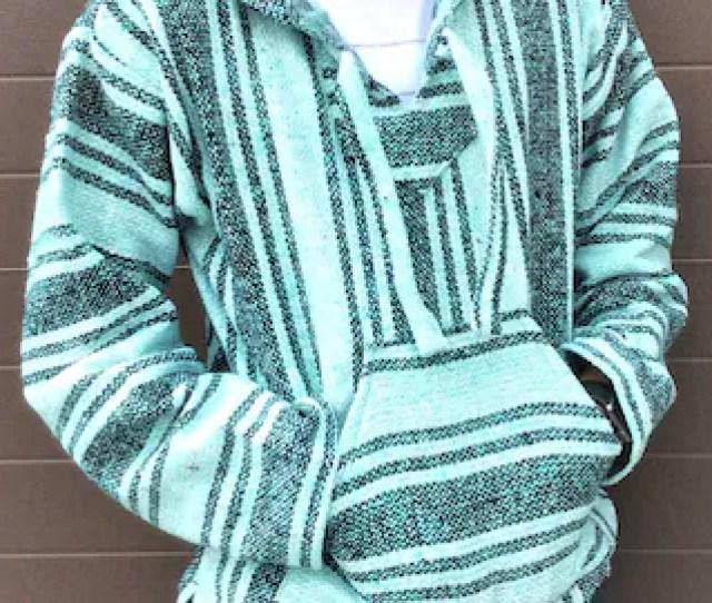 Pulover Sweatshirt Mexican Baja Drug Rug Hoodie Unisex Size Xl