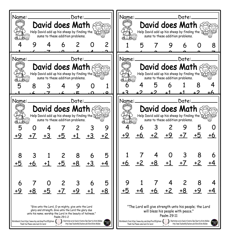 David Does Math First Grade Math Worksheets 1st Grade