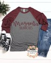 Bella And Canvas 3200 Unisex Grey And Maroon Triblend Baseball Etsy