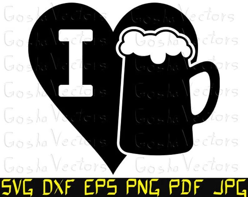 Download I love beer svg. Beer svg. Love svg. Heart svg. Mug svg ...