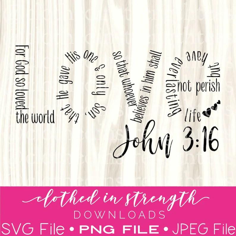 Download John 3:16 SVG File Love Christian Download Church Digital ...