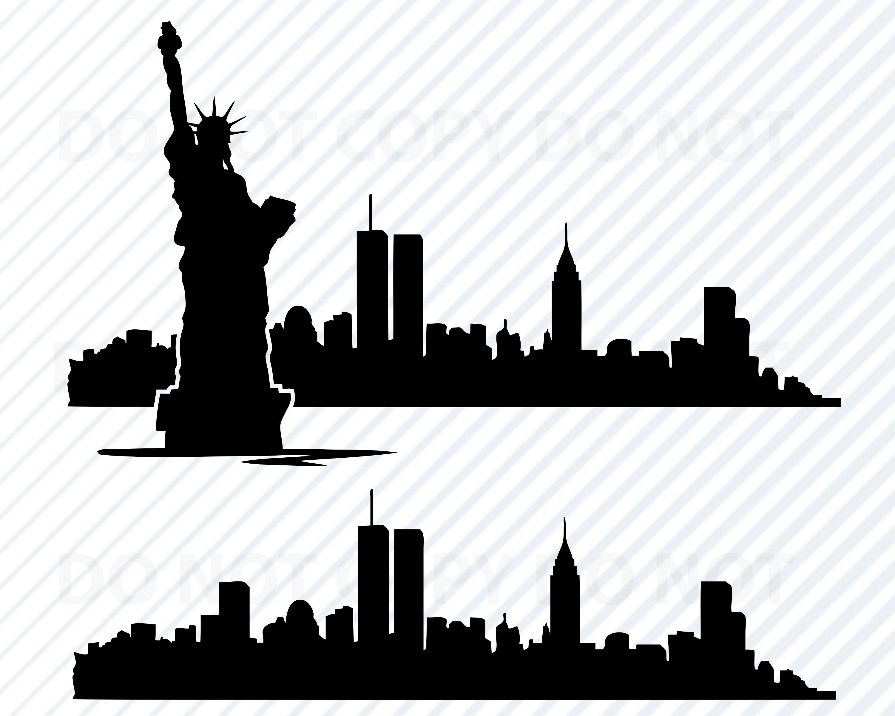 New York City Skyline Svg Files For Cricut Nyc Skyline Svg