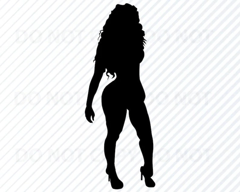 Download Curvy African American Woman Diva SVG Image For Cricut ...