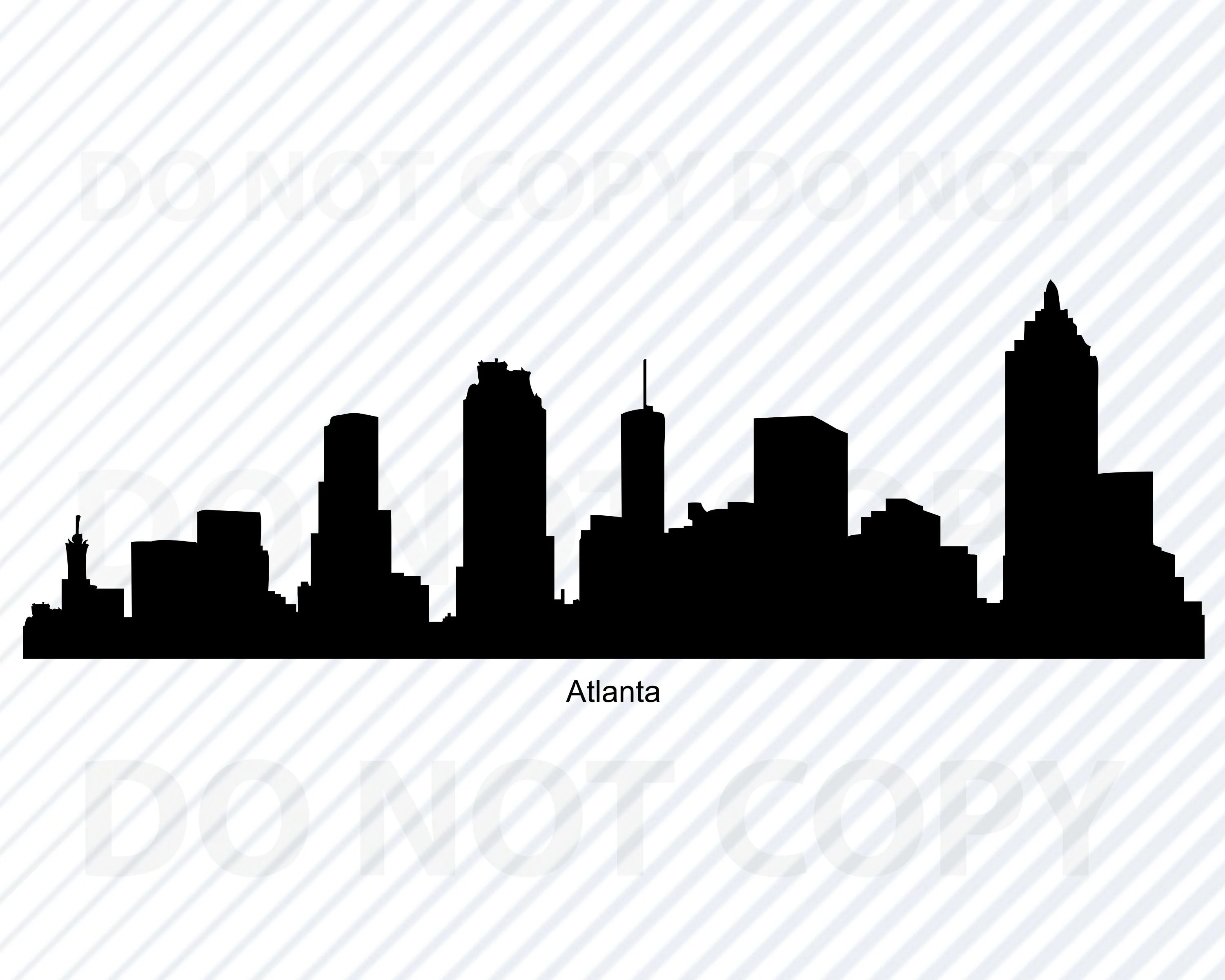 Atlanta Skyline Svg Files For Cricut City Skyline Clipart