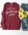 Shirt Mockup Bella Canvas Long Sleeve Jersey Tee 3501 Etsy