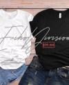Couple Shirt Mockup Bella Canvas 3001 Shirt Black Etsy