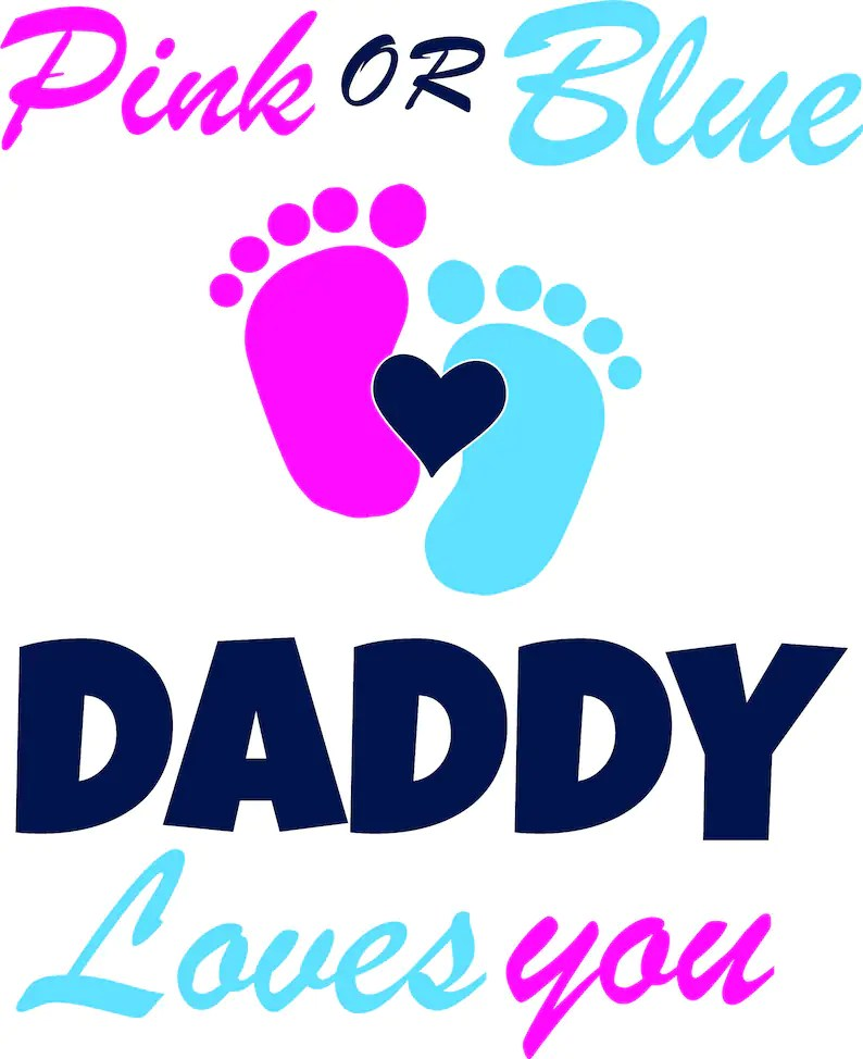 Download Baby Shower SvG Pink or Blue We Love You Party Birthday   Etsy