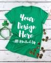 Bella Canvas Unisex 3001 Heather Kelly Green T Shirt Mock Up Etsy