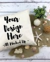 Canvas Pillow Mock Up Decor Pillow Square Pillow Pillow Case Etsy