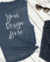 Bella And Canvas Mock Up Women S Flowy Scoop Muscle Tank Etsy