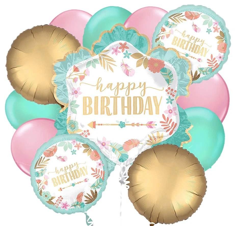 Happy Birthday Balloon Bouquet Happy Birthday Balloons Happy Etsy