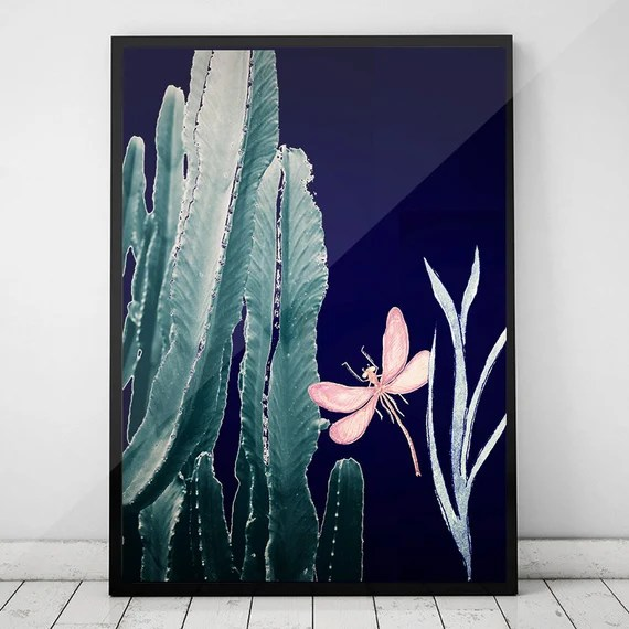Cactus Print,Cactus Wall Art Decor,Cactus Poster