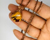 Crystal healing jewellery, Mookaite Pendant, copper Rolo necklace, gifts for him and her