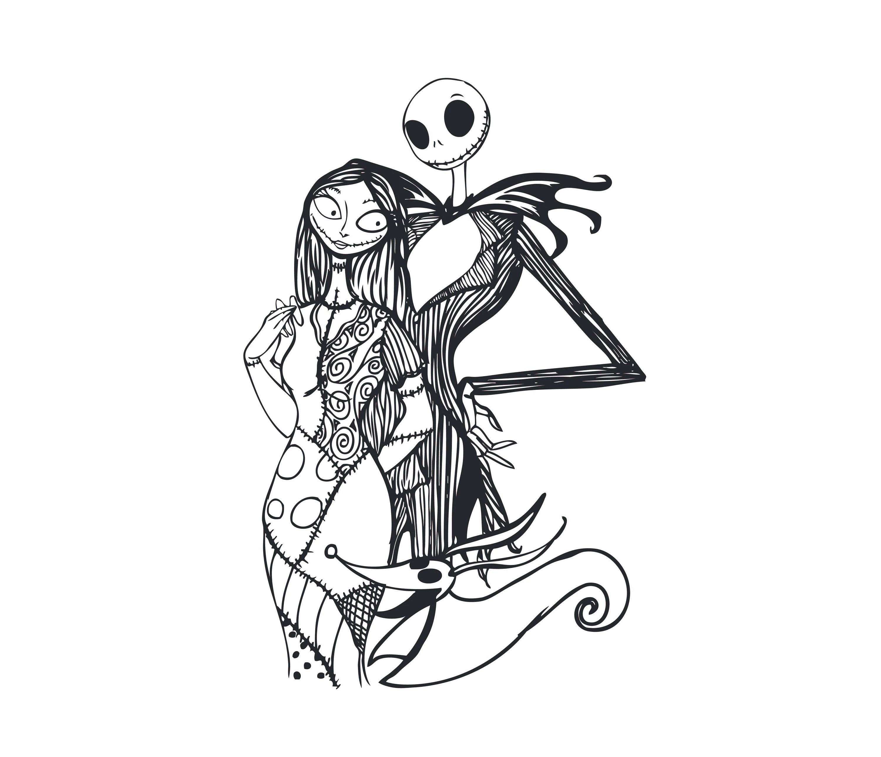 Nightmare Before Christmas Svg Jack And Sally Lovejack