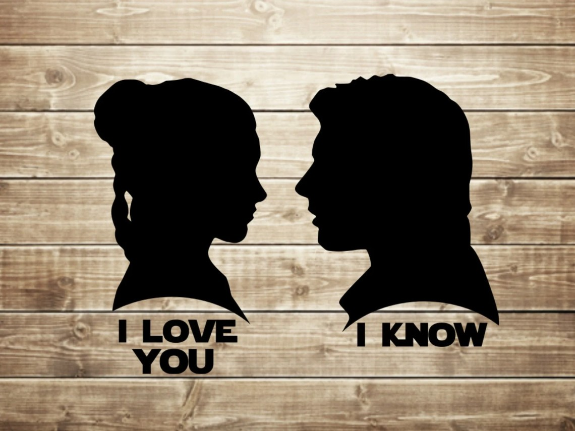 Download I love you I know Star Wars princess leia and hans solo | Etsy