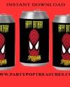 Spiderman Soda Can Label Instant Digital Download File Etsy
