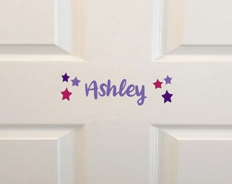 Kids Room Name Decal Wall Decal Personalized Kids Door Sign image 2