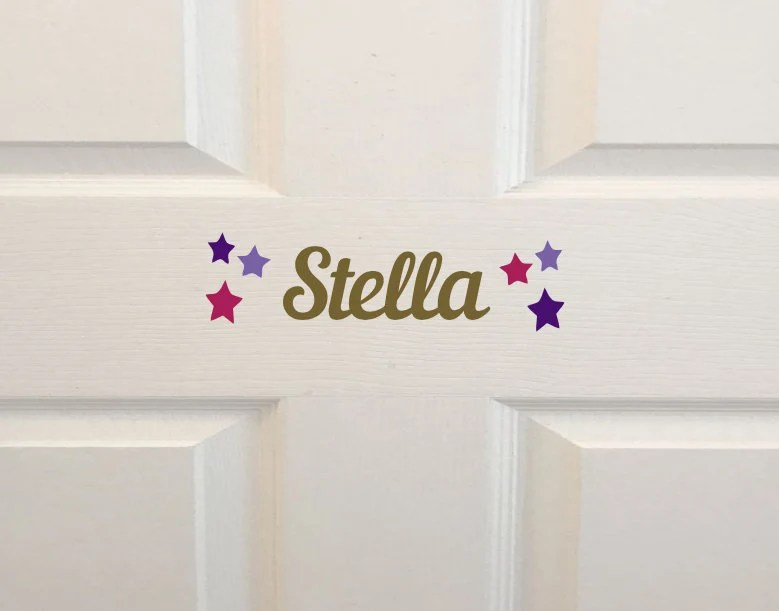 Kids Room Name Decal Wall Decal Personalized Kids Door Sign Nautilus