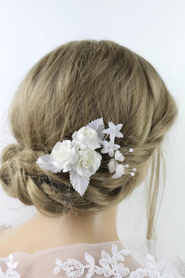 bridal hair jewelry hair jewelry wedding hair flowers roses bridal flower hair arrangement ivory