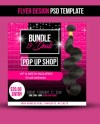 Hair Bundle Deal Flyer Design Template Etsy