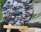 Sea Glass Coasters, Sea glass and lava rock Coasters, Table Coasters,  Tile Sandstone, Stone Coasters,  Sandstone Coasters, Coaster Set
