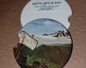 Custom Car Coasters - Mailbox Peak Trail Washington Custom Car Coaster - Sandstone Car Coasters