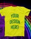 Yellow Tshirt Neon Mock Up Etsy