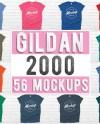 Gildan 2000 T Shirt Mockup Mega Bundle Men S Or Unisex Etsy