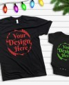 Mockup Tshirt Black Parent Baby Mockup Mom Kid Flat Lay Bella Etsy