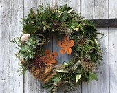 "Natural door wreath ""flower wreath"""