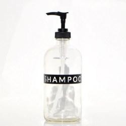 Shampoo Glass Soap Dispenser Clear Glass Bottle 16 Oz Eco Etsy