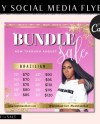 Diy Hair Extension Sale Flyer Editable Premade Hair Etsy