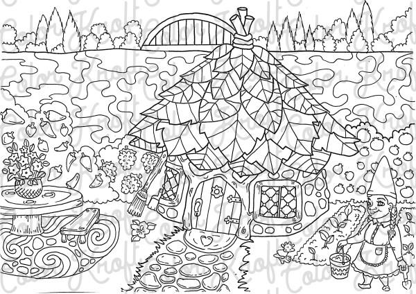 garden coloring page # 18