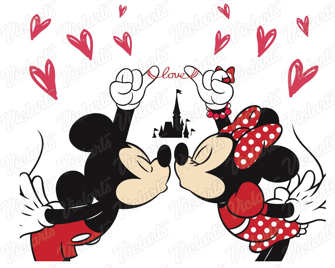 Download Mickey mouse and minnie kissing svg love svg mickey mouse ...