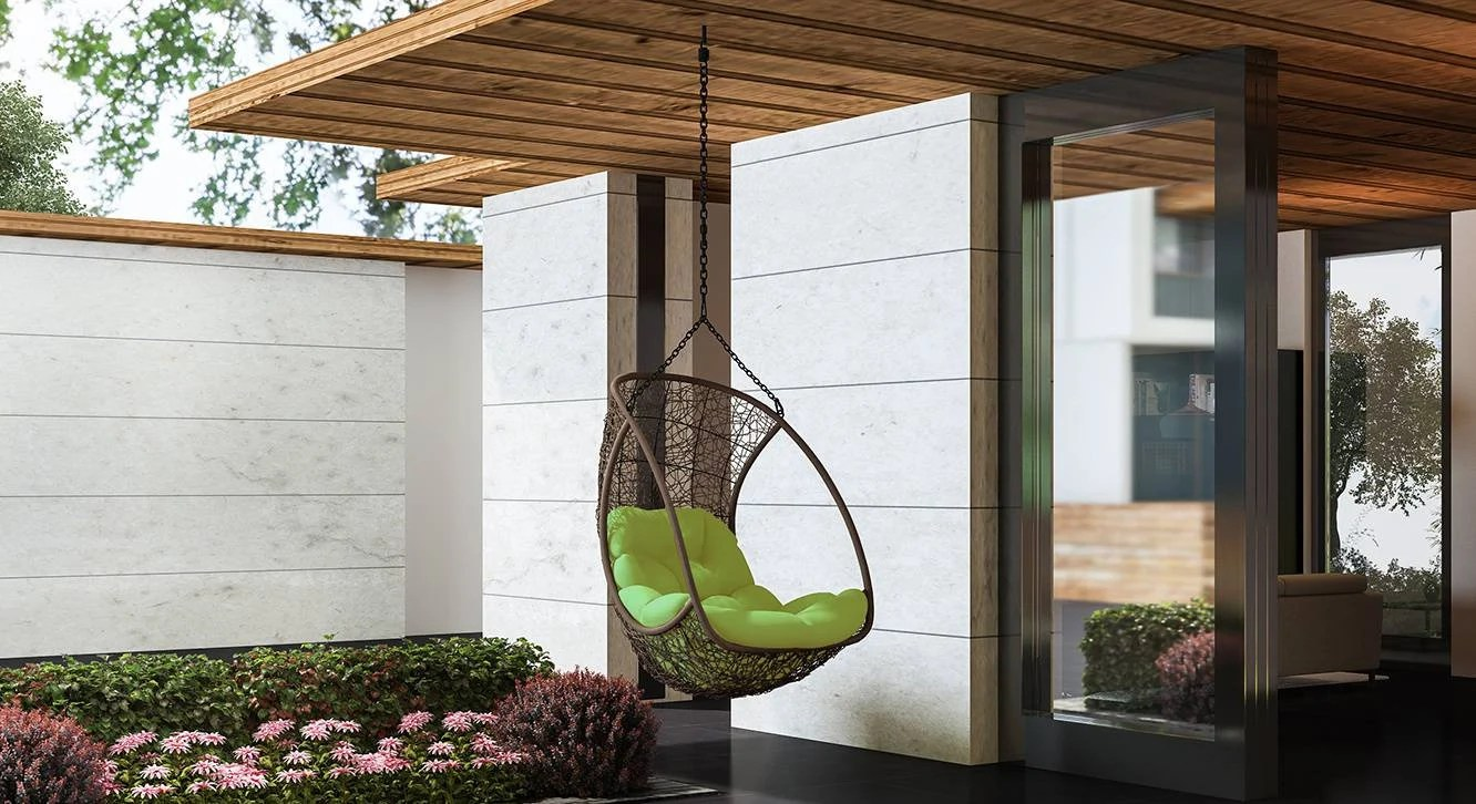 Hanging Hammock Chair Without Stand Brown Balcony Swing Outdoor Indoor Porch Swing