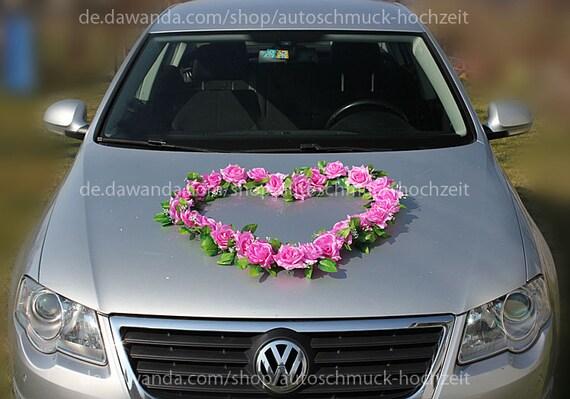 Amazon De Doppel Herz Auto Schmuck Braut Paar Rose Deko