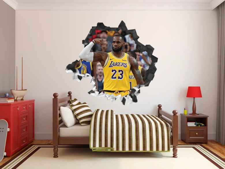 3D Lebron James Wall Decal by RoxyStoreCreaciones